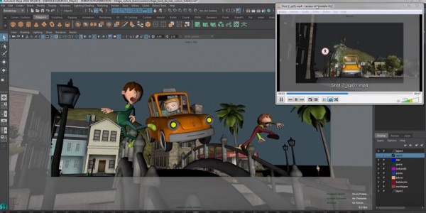 Animation d 39 une voiture cartoon en 3d avec le logiciel maya for Application dessin 3d